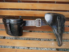 Beautiful Officer belt, with P38 holster and Service glass.