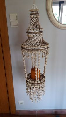 a Moroccan hanging lamp