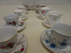 Twelve cups and saucers