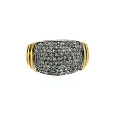 1.00 Carat Micro Pave Diamonds Gold Ring