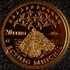 Ireland - 20 euros 2008 'Skellig Michael Unesco Heritage' - Gold