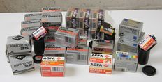 Lot of 31 very different (and partly special) Agfa films (35 mm)