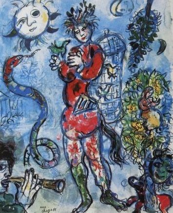 Marc Chagall (after) - Le charmeur de serpents