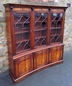 Rounded mahogany bookcase in George III style, approx. 1980
