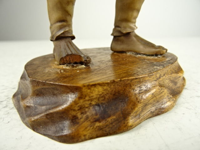 Fine boxwood carving of a radish picker japan meiji