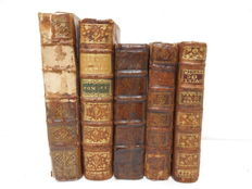 Lot of 5 volumes of the seventeenth and eighteenth century - 1696/1761