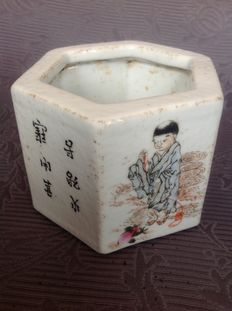 Porcelain brush pot – China – second half 20th century