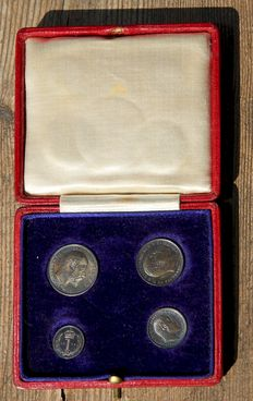 United Kingdom – 1, 2, 3 and 4 Pence 1908 (Maundy set) Edward VII (4 coins) – Silver.