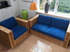 Jan des Bouvrie for ROHÉ - Rattan sofa set