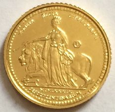 Gibraltar - ¼ Sovereign 1989 '150e Aanniversary of Regal Coinage' - gold