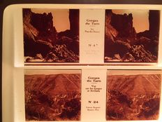 Stereo glass negatives 12x  - Gorges du Tarn