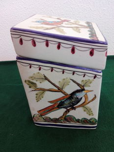 An Original Shape Naïve Bird Motif  Kitchen Box, Numbered and Signed