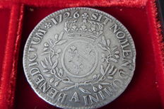 France – Louis XV (1715-1774) – Ecu with olive branches 1726-A 
