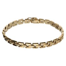 18 kt Yellow gold fantasy link bracelet - Length: 19.3 cm