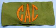 Rare and Original WW1 French Officer's Armband - Groupe d'armées du Centre (GAC, Central Army Group)