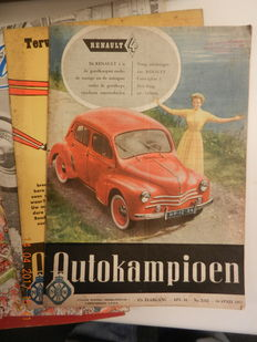 AUTOKAMPIOEN - large number of magazines from volumes 1955-2000