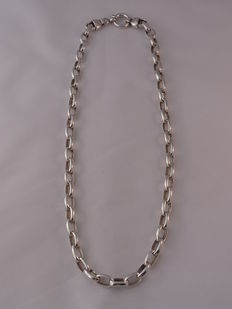 Unisex  925 silver necklace Length: 52.5 cm.  Weight: 37.40 g.