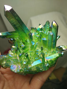 Dark Green Quartz Crystal - 79 x 61mm - 147.2gm