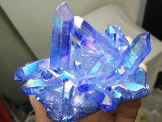 Blue Flame Quartz Crystal - 73 x 54mm - 144gm