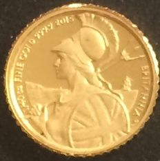 United Kingdom - 50 Pence 2015 'The Britannia' - gold