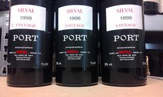 "1999 Vintage Port Quinta do Noval ""Silval"" - 3 bottles"