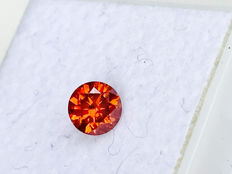 Red Diamond - Brilliant Cut - 0.455 ct - without reserve price