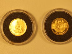 Cook Islands, Vanuatu – 2 gold coins