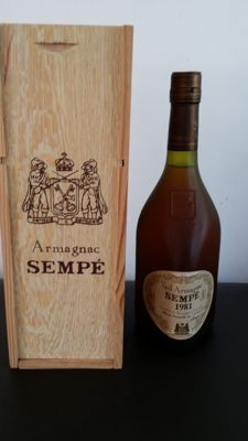 Armagnac Sempé vintage 1981 - 12 years old