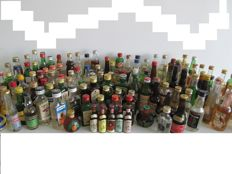 Collection of 133 vintage liquer miniaturebottles period 1950- 1990