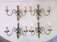 Four wall lights in Brass, France