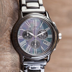 Alfex Ceramic Chronograph - men's wristwatch - new condition