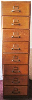 High Hague school filing cabinet with 8 drawers