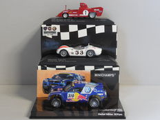 Minichamps - Scale 1/43 - Lot with 3 sport car models: Alfa Romeo, Maserati & Volkswagen