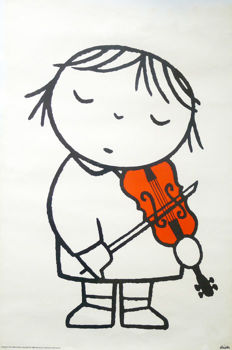 Dick Bruna - Girl with violin (1968) - ca. 1990
