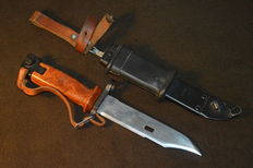 AKM II (AK-47) Bayonet, Izhevsh production, a very beautiful specimen, Russian bakelite handle and scabbard.