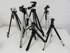 Lot of 6 tripods