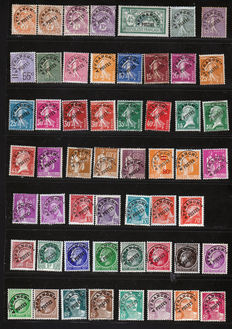 France 1923/1943 – Sizeable lot of precancelled stamps – Yvert between n° 39 et 100