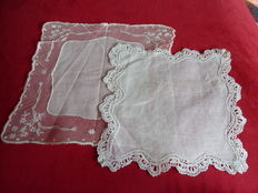 Two lace doilies from a French private collection, France, 1860/ 1880s and 1900s.