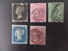 Great Britain 1840-1855 – selection of stamps