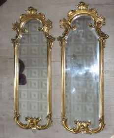 A pair of wall mirrors - Italy, 1950s