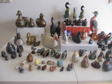 "Lot van 62 zeer gevarieerde eenden ""from all over the world"""
