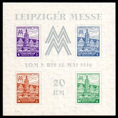 Soviet Zone 1946 – Leiziger Messe  – Michel Block 5y