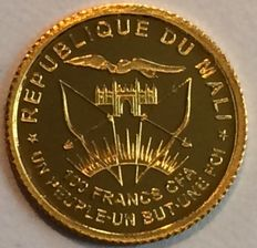 Mali - 100 Francs 2014 'Fall of the Berlin Wall' - ½ gr. Gold