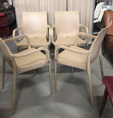 "Eurolinea for Gaber - 4x ""Iris B"" chairs"