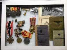 WW I and WW II Collection of a soldier 1917 - 1945 with all awards
