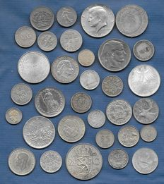 World – lot of various coins, 1733/2004 (32 different) – silver.
