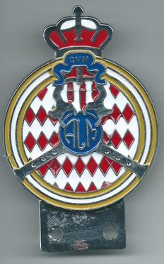 Monte Carlo - Monaco Car Badge - 10 x 6½ Centimeter