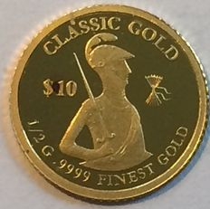 Solomon Islands - 10 Dollars 2014 'Classic Gold' - ½ gr. Gold