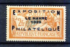 France 1929 - Le Havre Exposition signe Calves - Yvert no. 257A