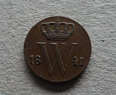 The Netherlands - ½ cent 1841 - William II